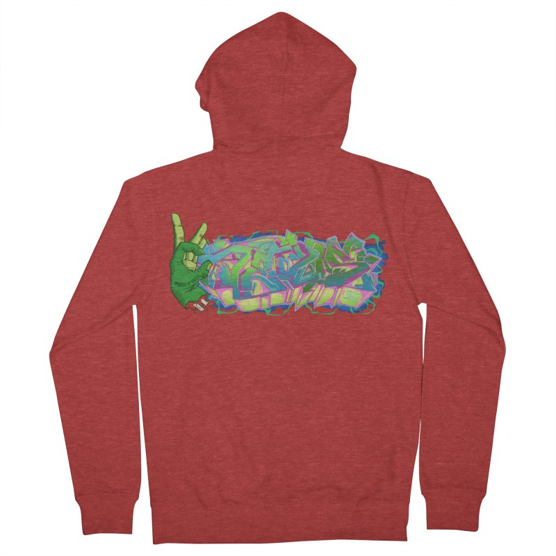 Dedos Graffiti letters 2 Men's French Terry Zip-Up Hoody by Dedos tees