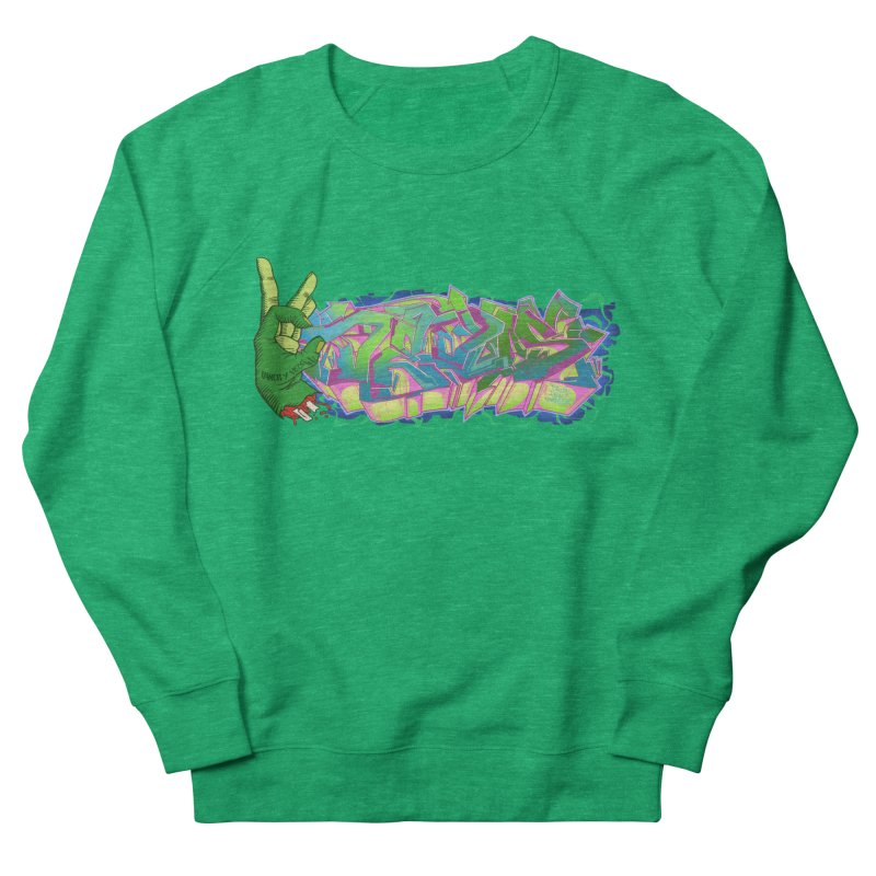 Dedos Graffiti letters 2 Men's French Terry Sweatshirt by Dedos tees