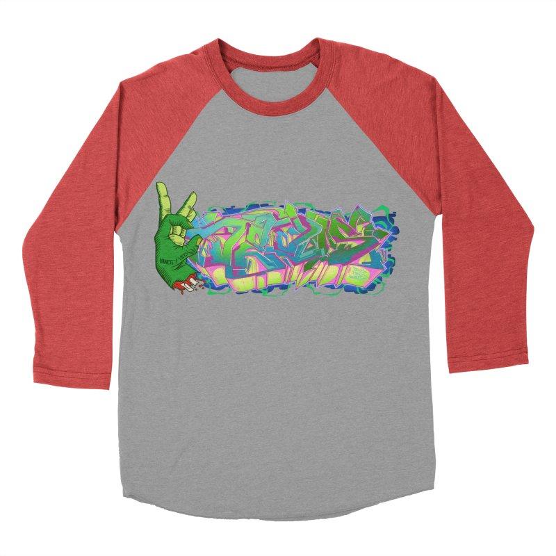 Dedos Graffiti letters 2 Women's Baseball Triblend T-Shirt by Dedos tees