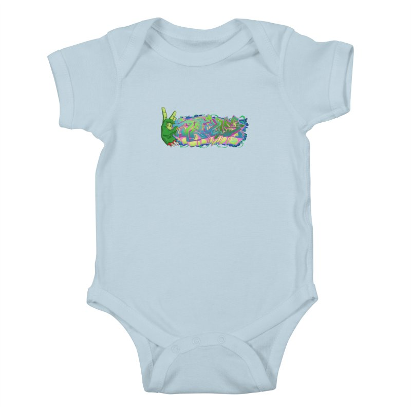 Dedos Graffiti letters 2 Kids Baby Bodysuit by Dedos tees