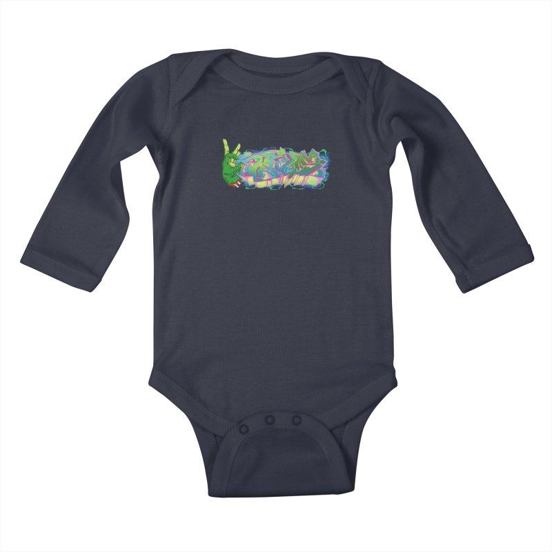 Dedos Graffiti letters 2 Kids Baby Longsleeve Bodysuit by Dedos tees