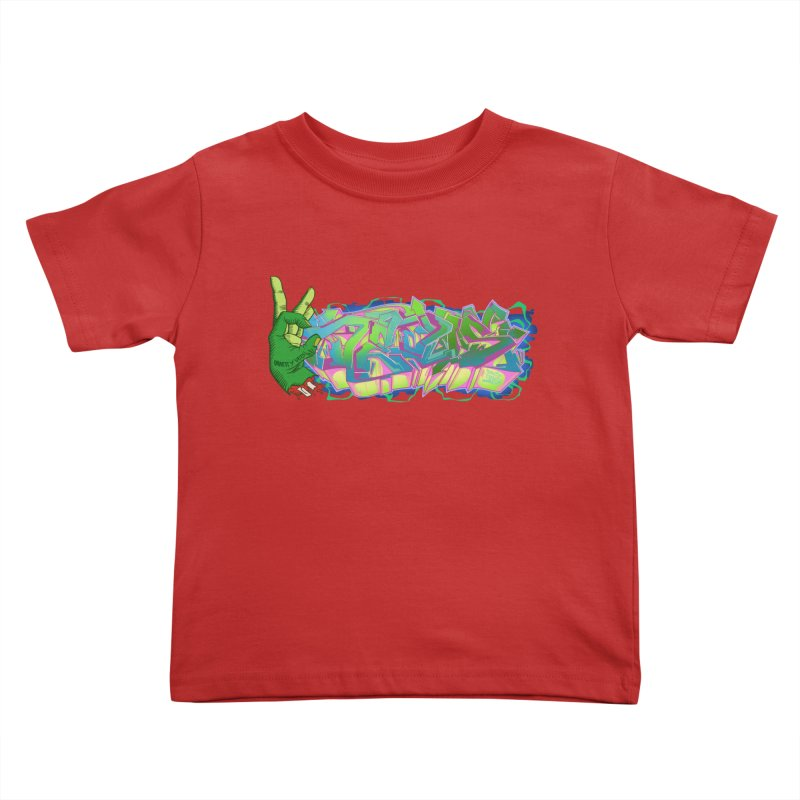 Dedos Graffiti letters 2 Kids Toddler T-Shirt by Dedos tees