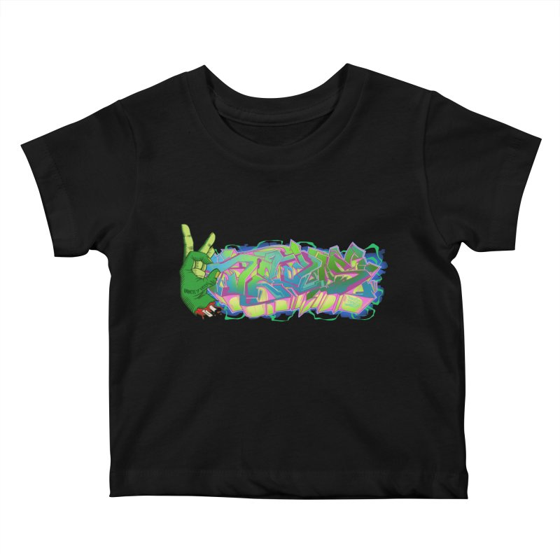 Dedos Graffiti letters 2 Kids Baby T-Shirt by Dedos tees