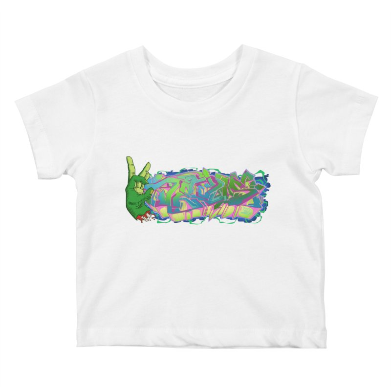 Dedos Graffiti letters 2 Kids Baby T-Shirt by Dedos tees