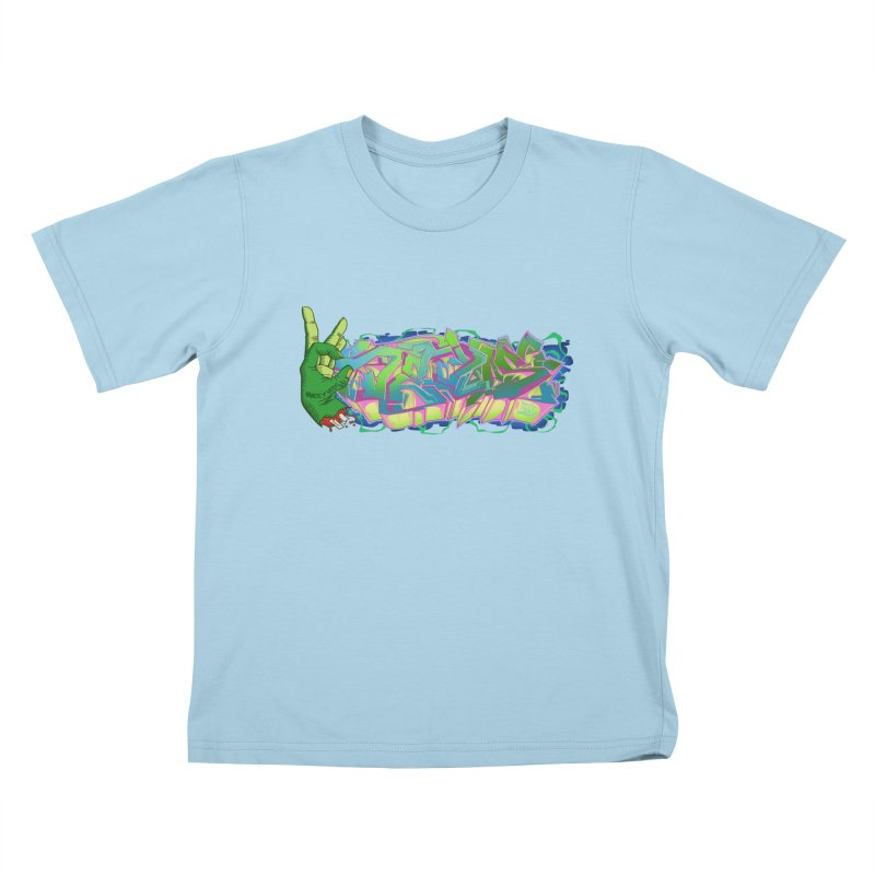 Dedos Graffiti letters 2 Kids T-shirt by Dedos tees