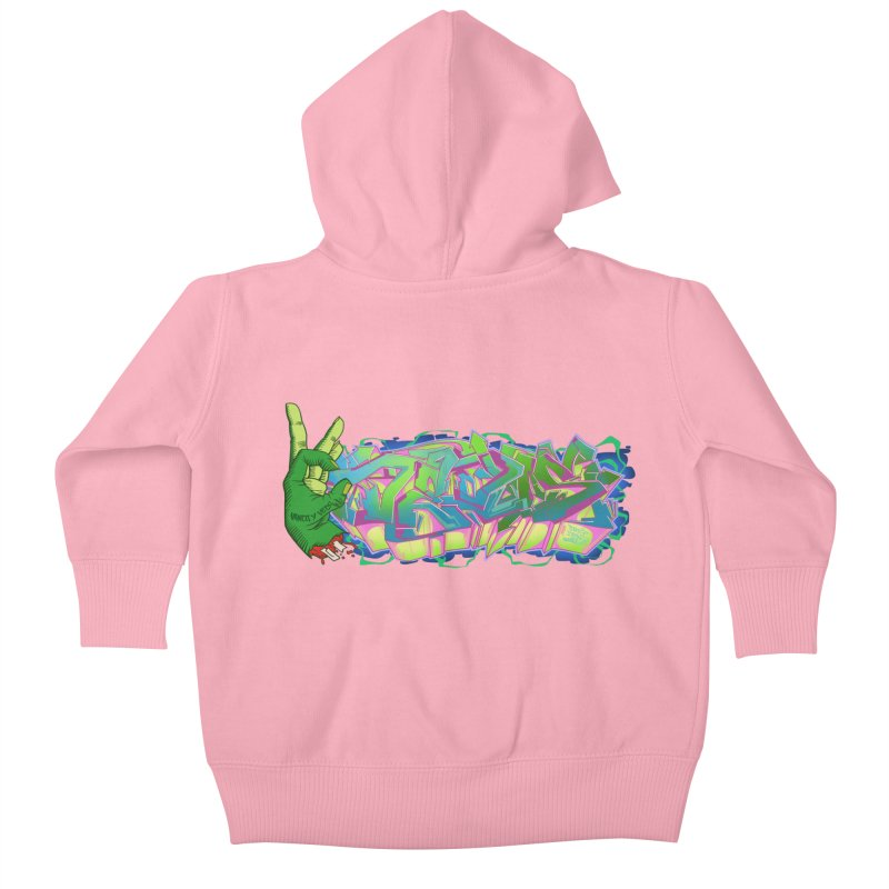 Dedos Graffiti letters 2 Kids Baby Zip-Up Hoody by Dedos tees