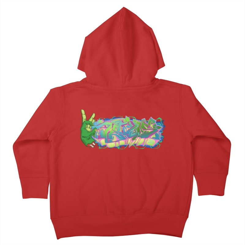 Dedos Graffiti letters 2 Kids Toddler Zip-Up Hoody by Dedos tees