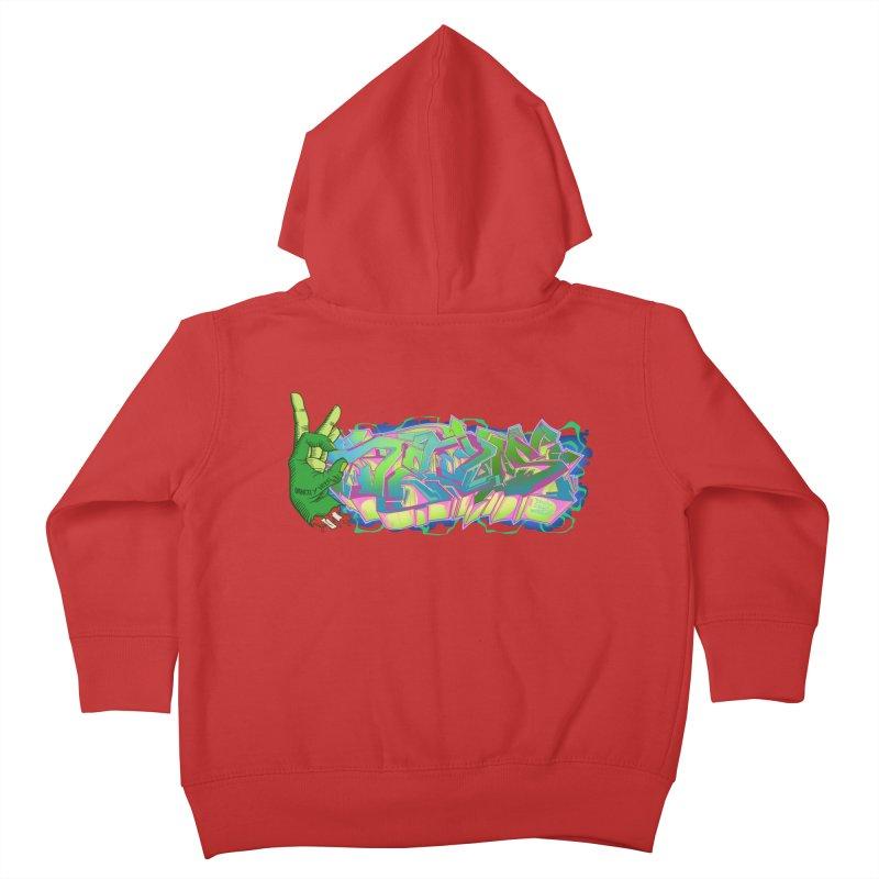 Dedos Graffiti letters 2 Kids Toddler Zip-Up Hoody by Dedos tees