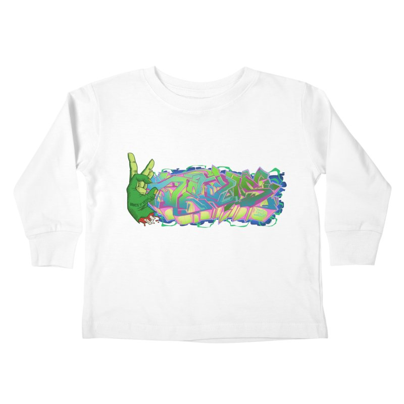 Dedos Graffiti letters 2 Kids Toddler Longsleeve T-Shirt by Dedos tees