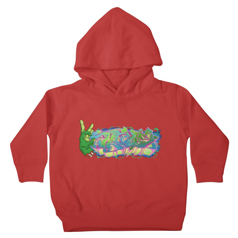Dedos Graffiti letters 2 Kids Toddler Pullover Hoody by Dedos tees