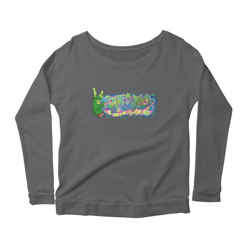 Dedos Graffiti letters 2 Women's Longsleeve Scoopneck  by Dedos tees