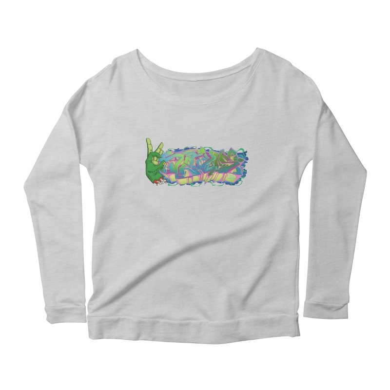 Dedos Graffiti letters 2 Women's Scoop Neck Longsleeve T-Shirt by Dedos tees