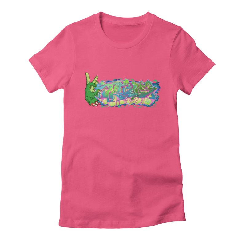 Dedos Graffiti letters 2 Women's Fitted T-Shirt by Dedos tees