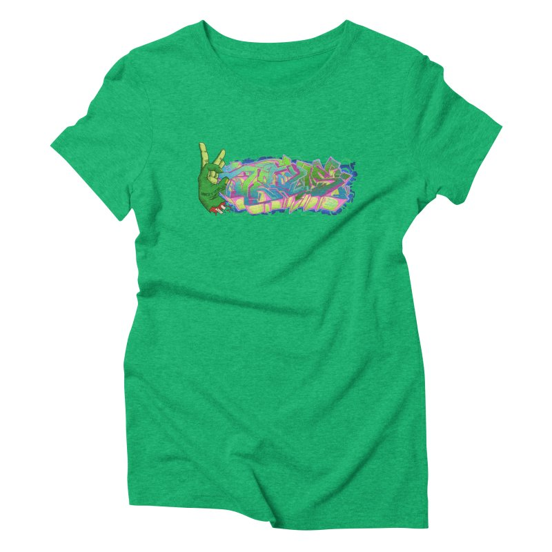 Dedos Graffiti letters 2 Women's Triblend T-Shirt by Dedos tees