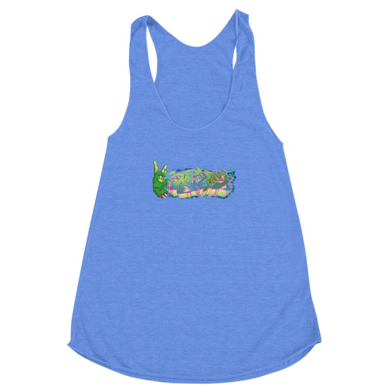 Dedos Graffiti letters 2 Women's Racerback Triblend Tank by Dedos tees
