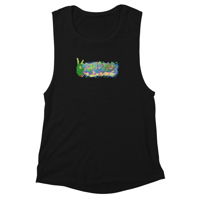 Dedos Graffiti letters 2 Women's Muscle Tank by Dedos tees