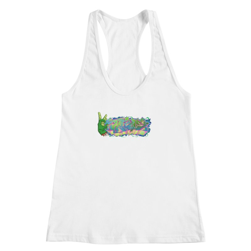 Dedos Graffiti letters 2 Women's Racerback Tank by Dedos tees