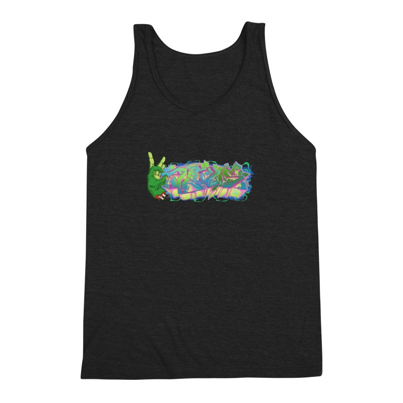 Dedos Graffiti letters 2 Men's Triblend Tank by Dedos tees
