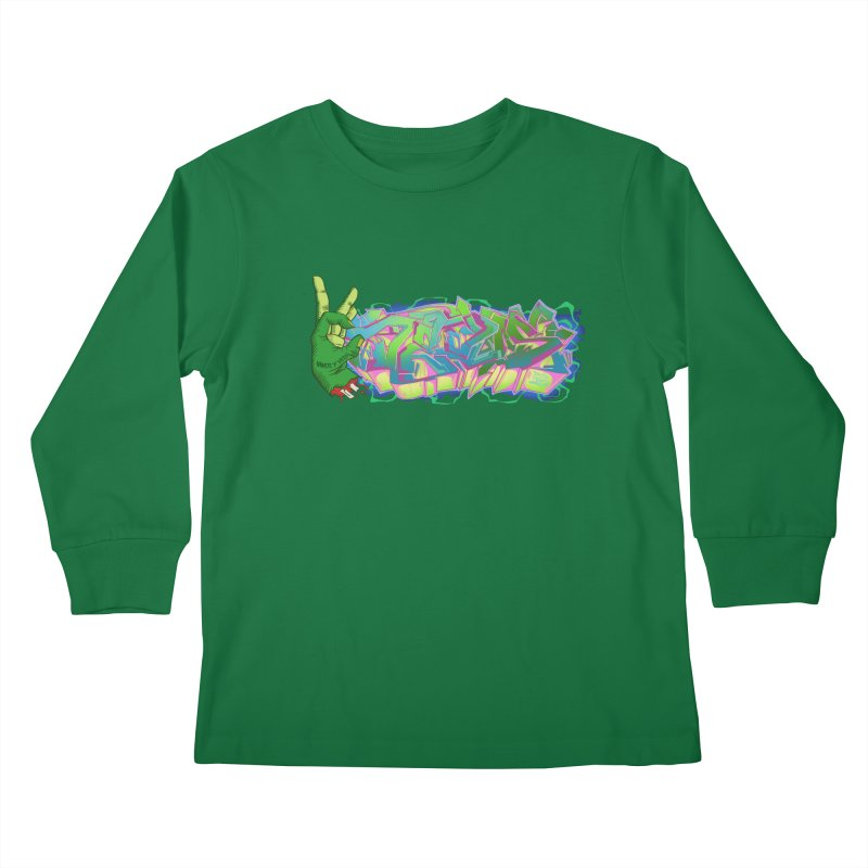 Dedos Graffiti letters 2 Kids Longsleeve T-Shirt by Dedos tees