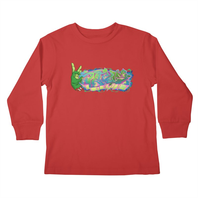 Dedos Graffiti letters 2 Kids Longsleeve T-Shirt by Dedos tees