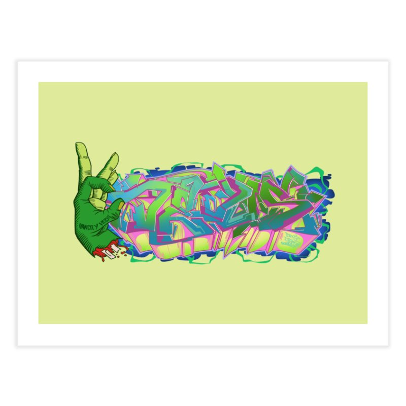 Dedos Graffiti letters 2 Home Fine Art Print by Dedos tees