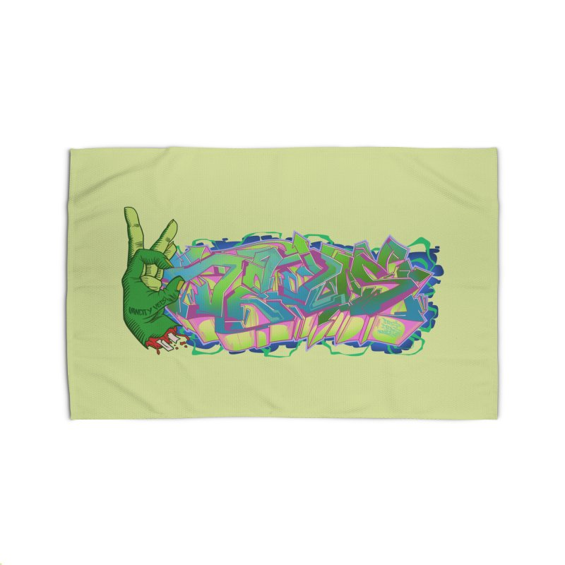 Dedos Graffiti letters 2 Home Rug by Dedos tees