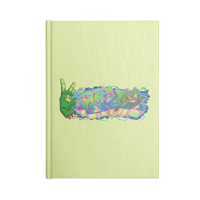 Dedos Graffiti letters 2 Accessories Notebook by Dedos tees