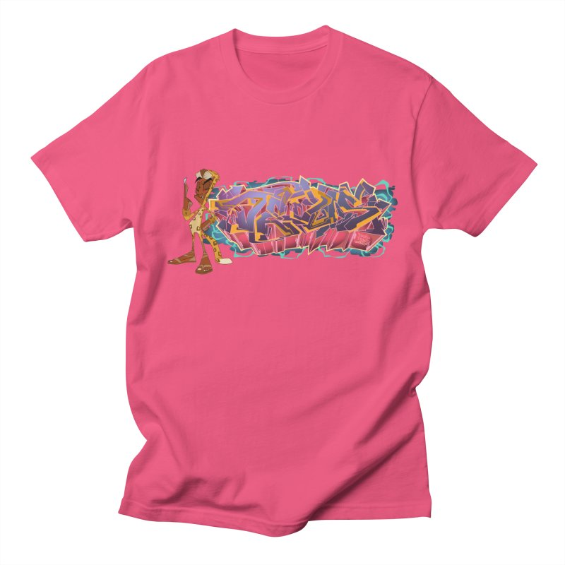 Dedos Graffiti letters 3 in Men's Regular T-Shirt Fuchsia by Dedos tees