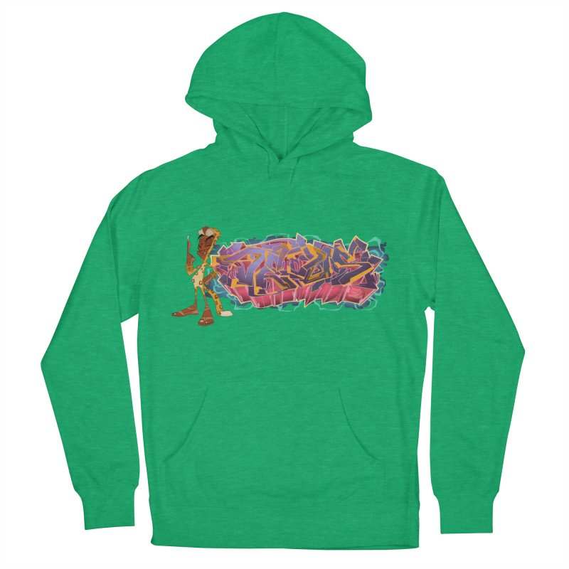 Dedos Graffiti letters 3 Women's French Terry Pullover Hoody by Dedos tees