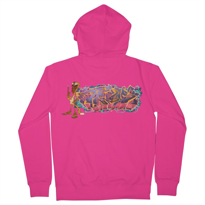 Dedos Graffiti letters 3 Men's French Terry Zip-Up Hoody by Dedos tees
