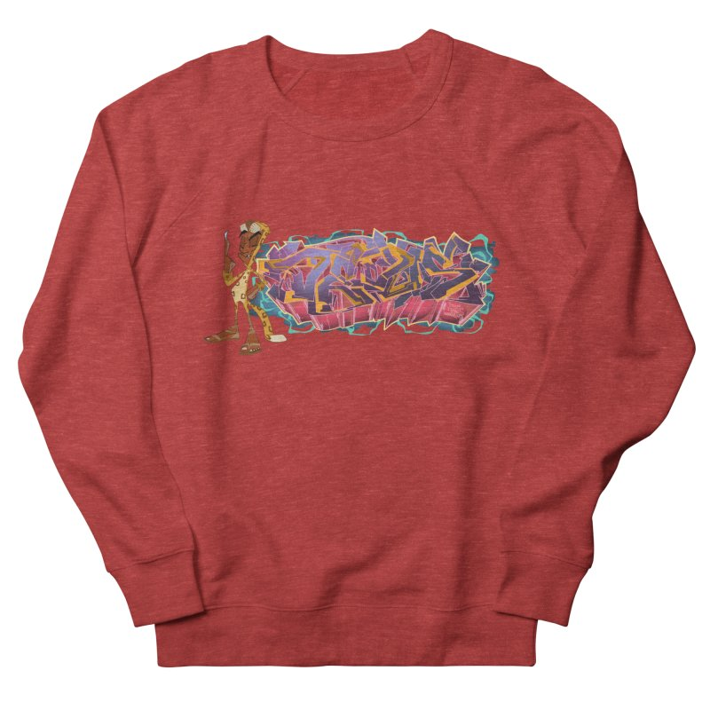 Dedos Graffiti letters 3 Women's French Terry Sweatshirt by Dedos tees