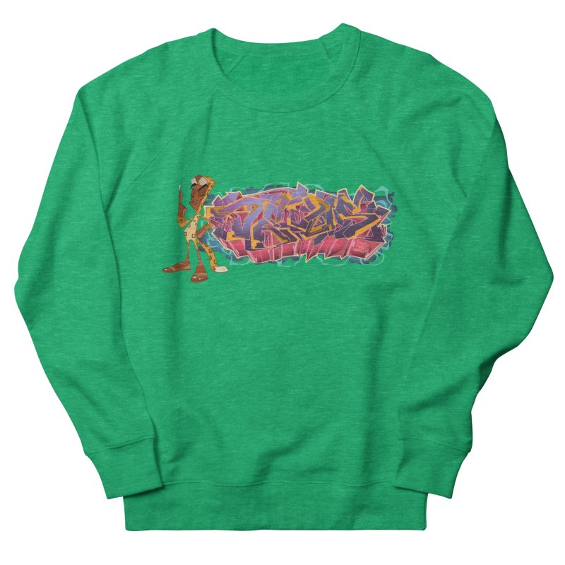 Dedos Graffiti letters 3 Men's French Terry Sweatshirt by Dedos tees