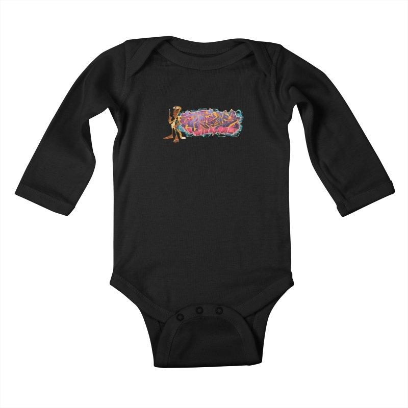Dedos Graffiti letters 3 Kids Baby Longsleeve Bodysuit by Dedos tees