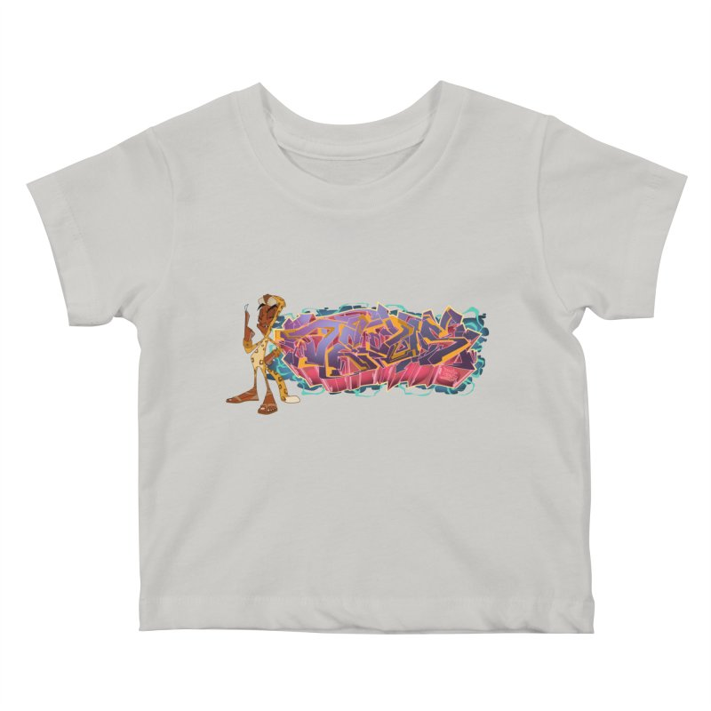 Dedos Graffiti letters 3 Kids Baby T-Shirt by Dedos tees