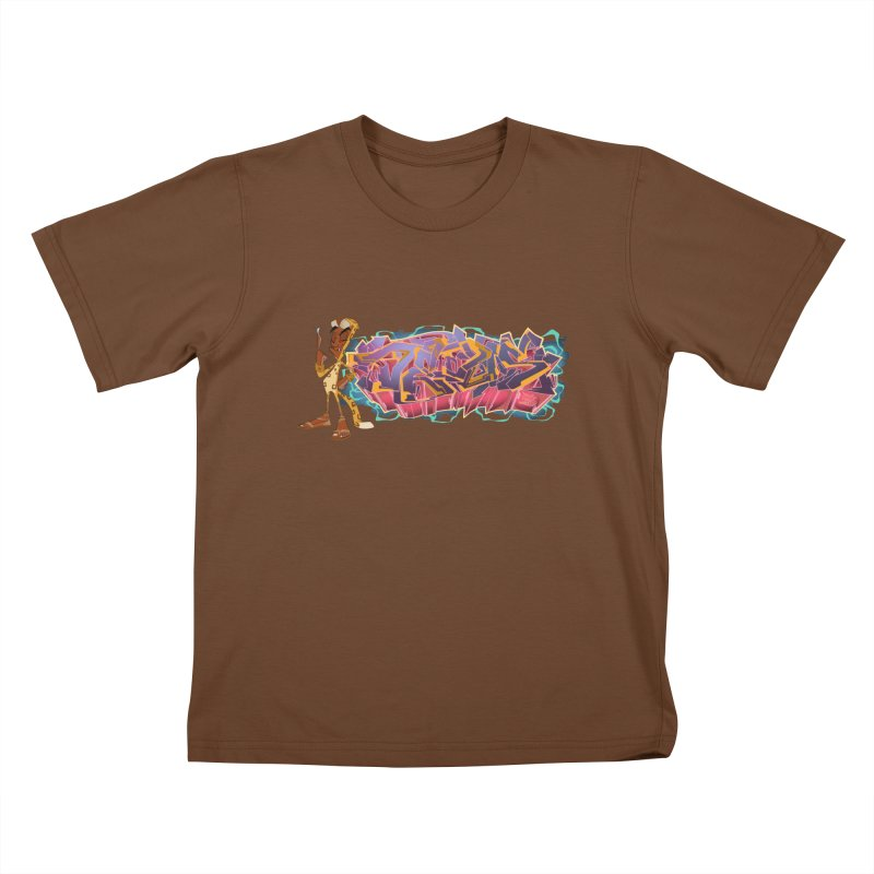 Dedos Graffiti letters 3 Kids T-shirt by Dedos tees