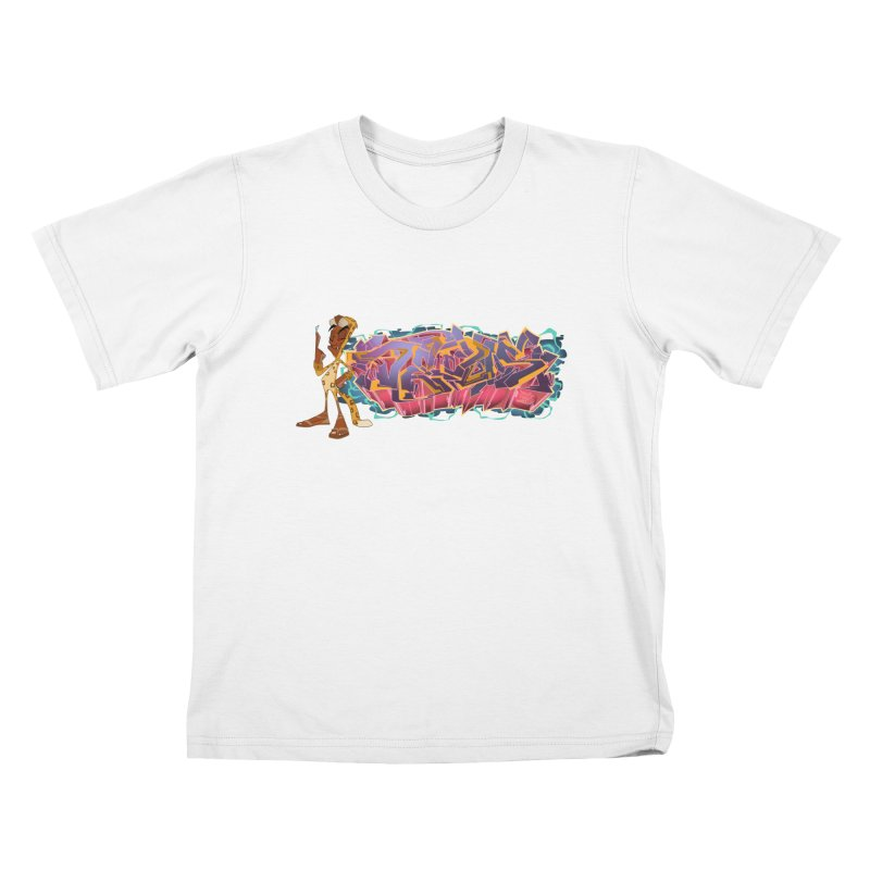 Dedos Graffiti letters 3 Kids T-Shirt by Dedos tees