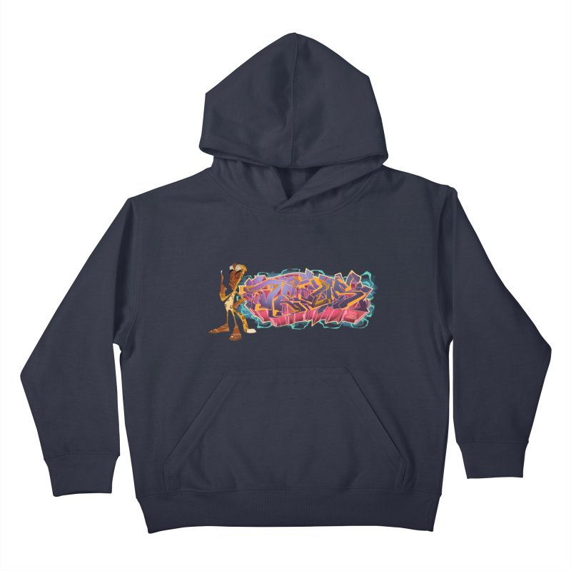 Dedos Graffiti letters 3 Kids Pullover Hoody by Dedos tees