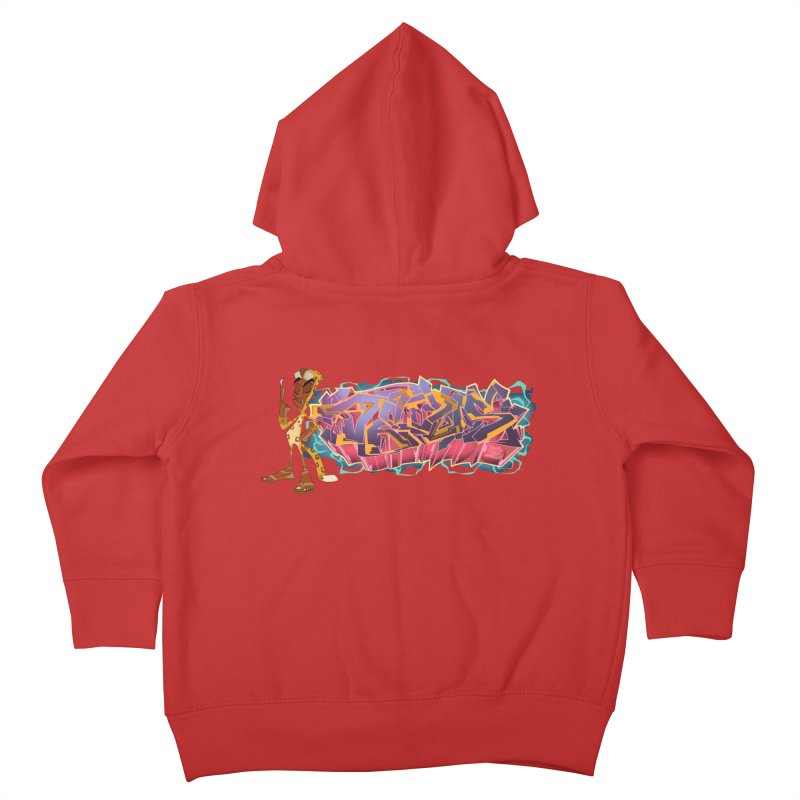 Dedos Graffiti letters 3 Kids Toddler Zip-Up Hoody by Dedos tees