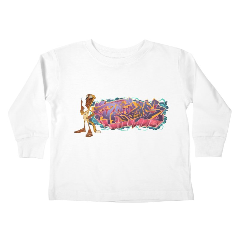 Dedos Graffiti letters 3 Kids Toddler Longsleeve T-Shirt by Dedos tees