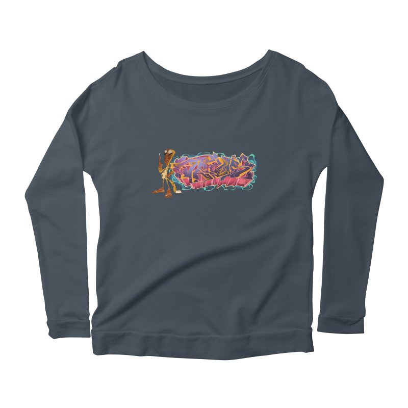 Dedos Graffiti letters 3 Women's Scoop Neck Longsleeve T-Shirt by Dedos tees