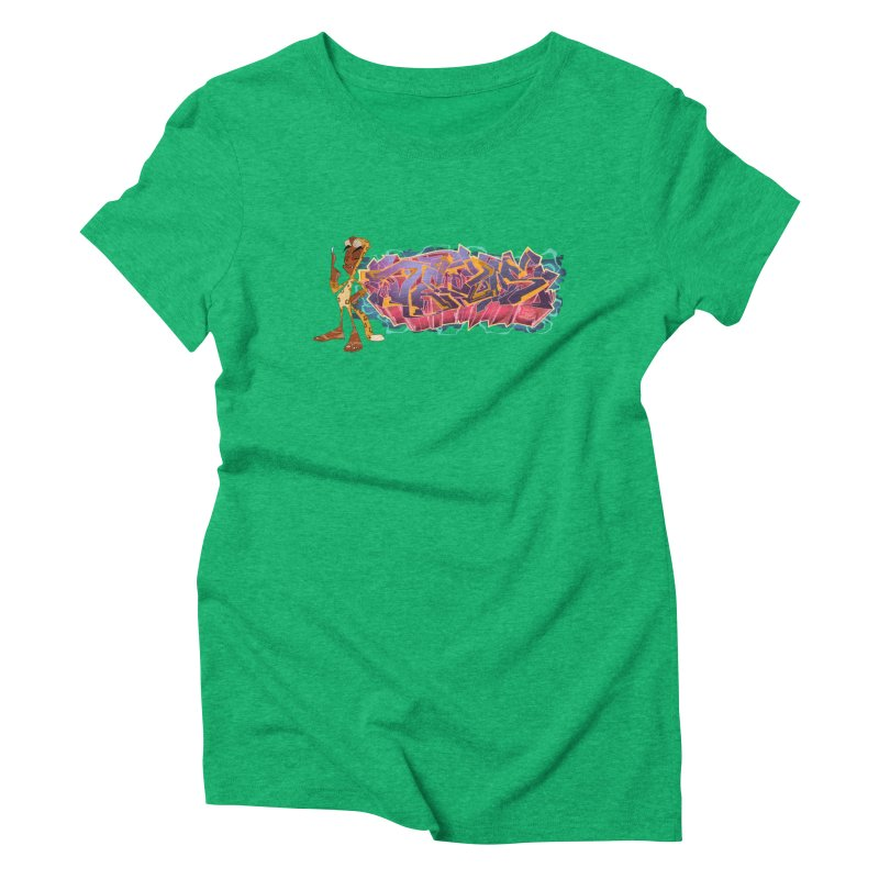 Dedos Graffiti letters 3 Women's Triblend T-Shirt by Dedos tees