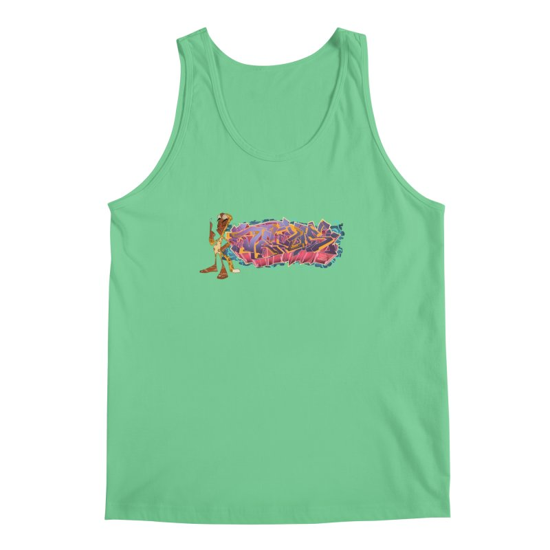 Dedos Graffiti letters 3 Men's Tank by Dedos tees
