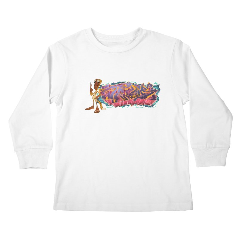 Dedos Graffiti letters 3 Kids Longsleeve T-Shirt by Dedos tees