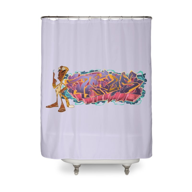 Dedos Graffiti letters 3 Home Shower Curtain by Dedos tees