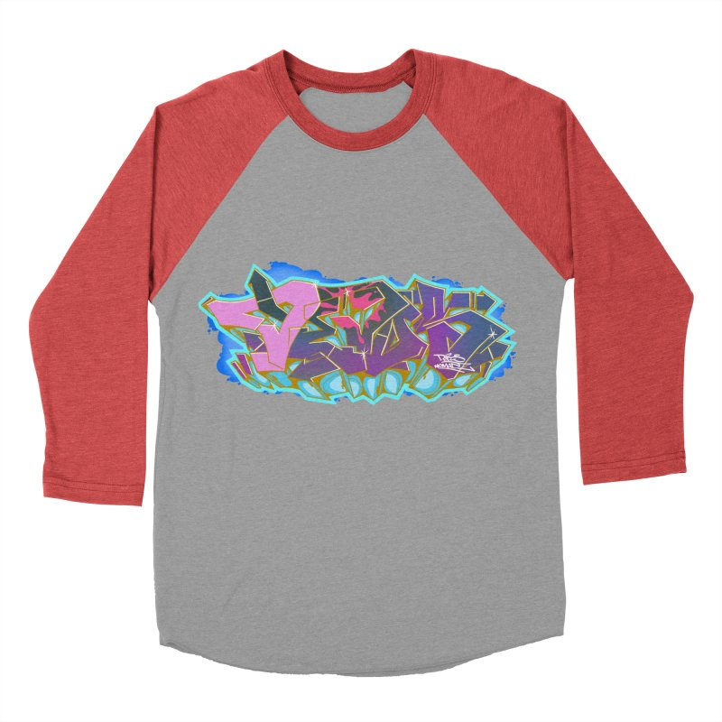 Dedos Graffiti letters 4 Women's Baseball Triblend Longsleeve T-Shirt by Dedos tees