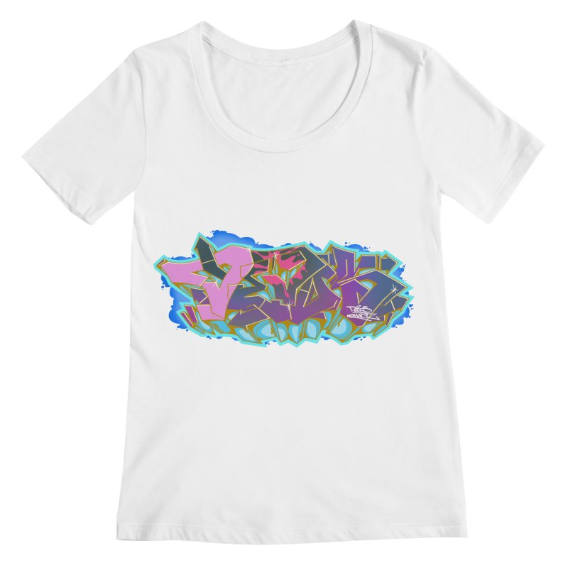 Dedos Graffiti letters 4 Women's Regular Scoop Neck by Dedos tees