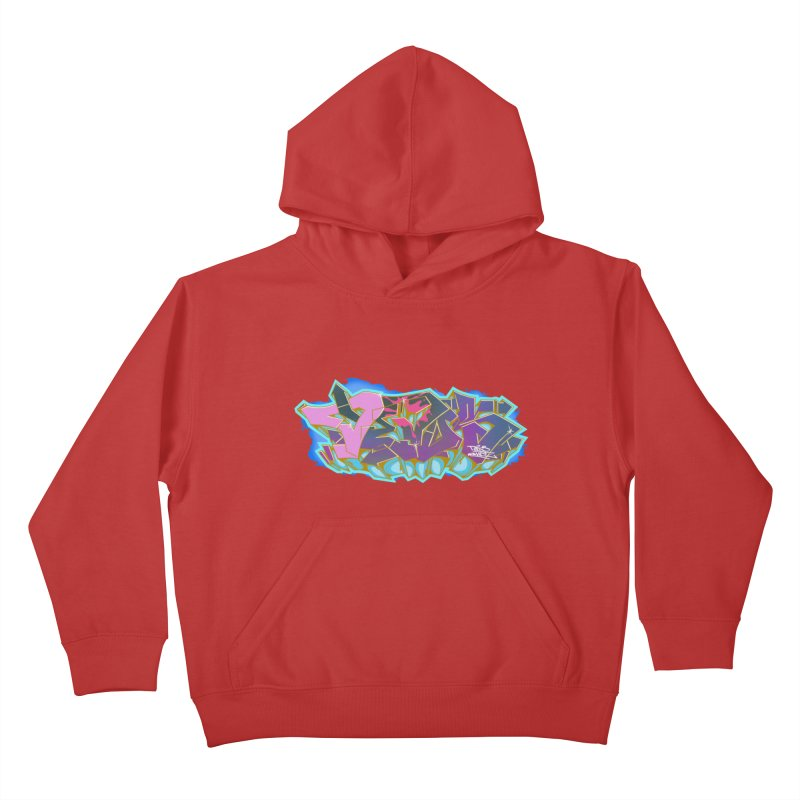 Dedos Graffiti letters 4 Kids Pullover Hoody by Dedos tees
