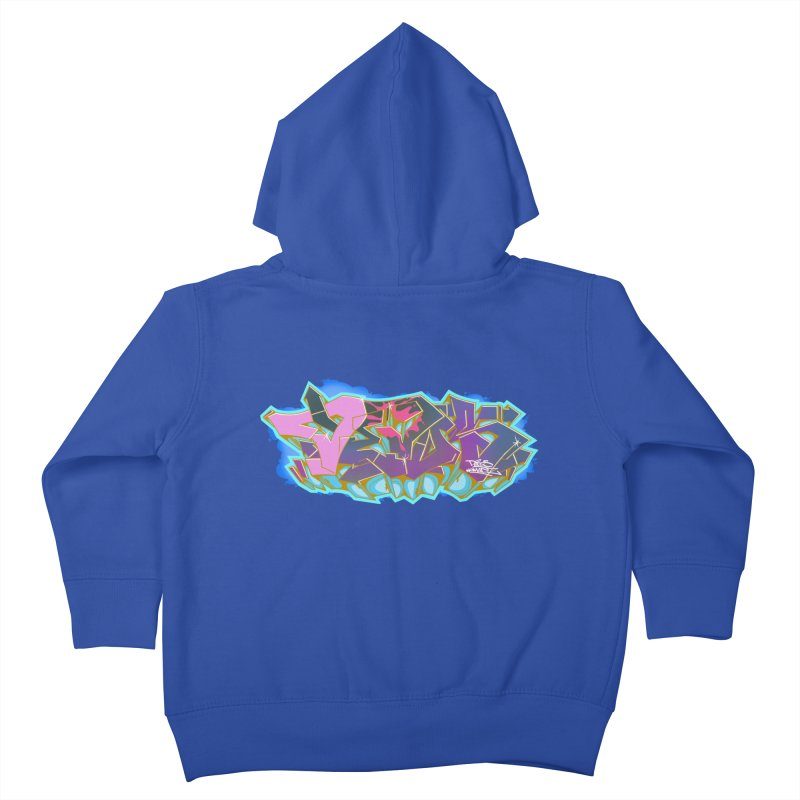 Dedos Graffiti letters 4 Kids Toddler Zip-Up Hoody by Dedos tees