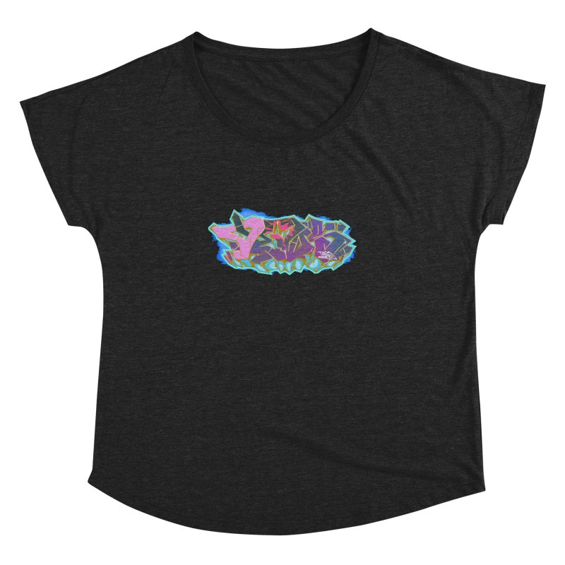 Dedos Graffiti letters 4 Women's Dolman Scoop Neck by Dedos tees