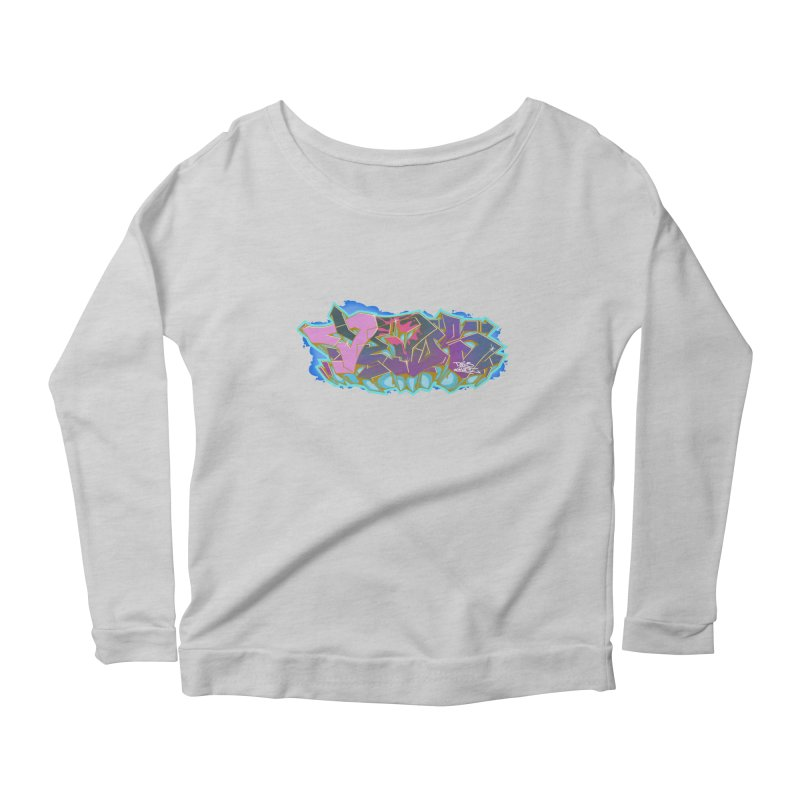 Dedos Graffiti letters 4 Women's Scoop Neck Longsleeve T-Shirt by Dedos tees